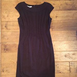 Dark Brown cap sleeve dress